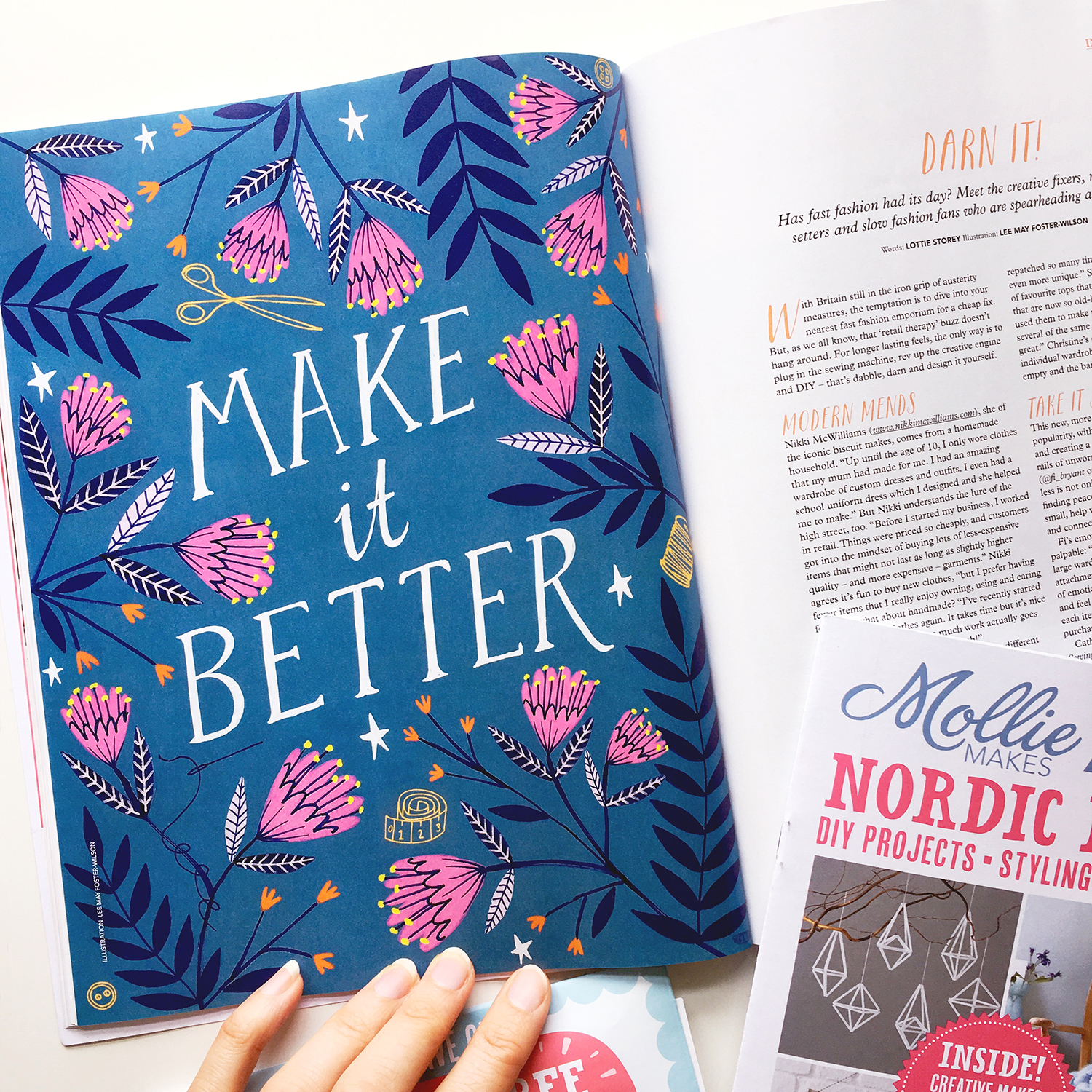 'Make it Better' for Mollie Makes Magazine · Lee Foster-Wilson