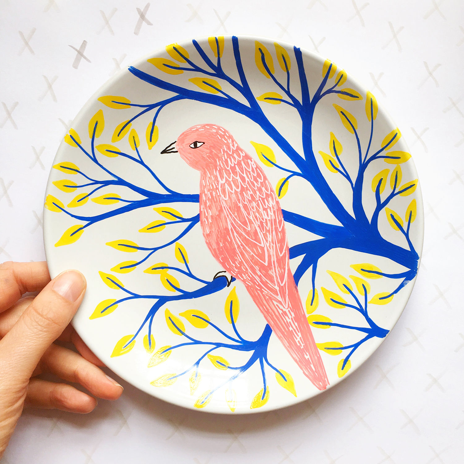 Hand Painted Bird Plate · Lee Foster-Wilson