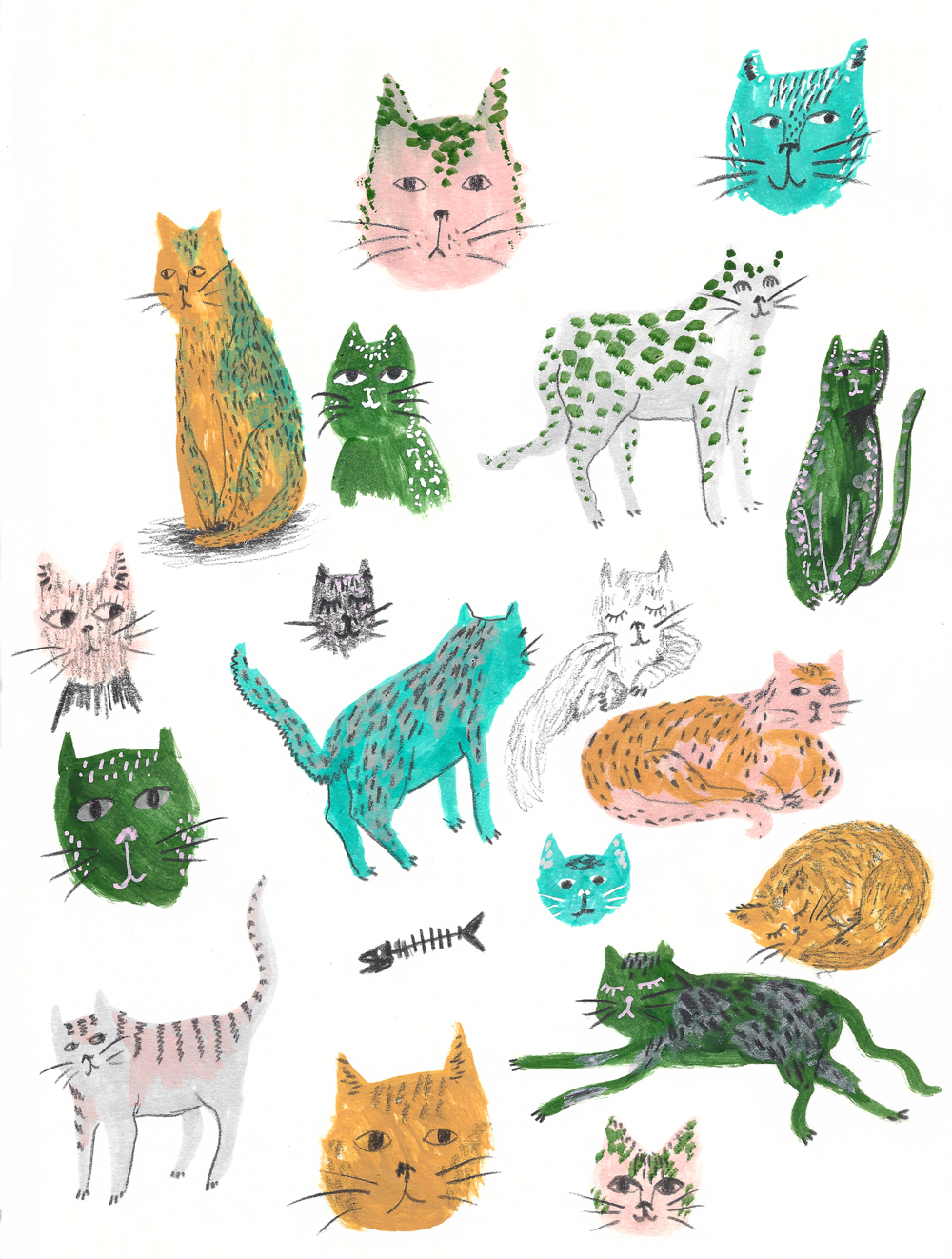 Sketchbook – Cats! · Lee Foster-Wilson