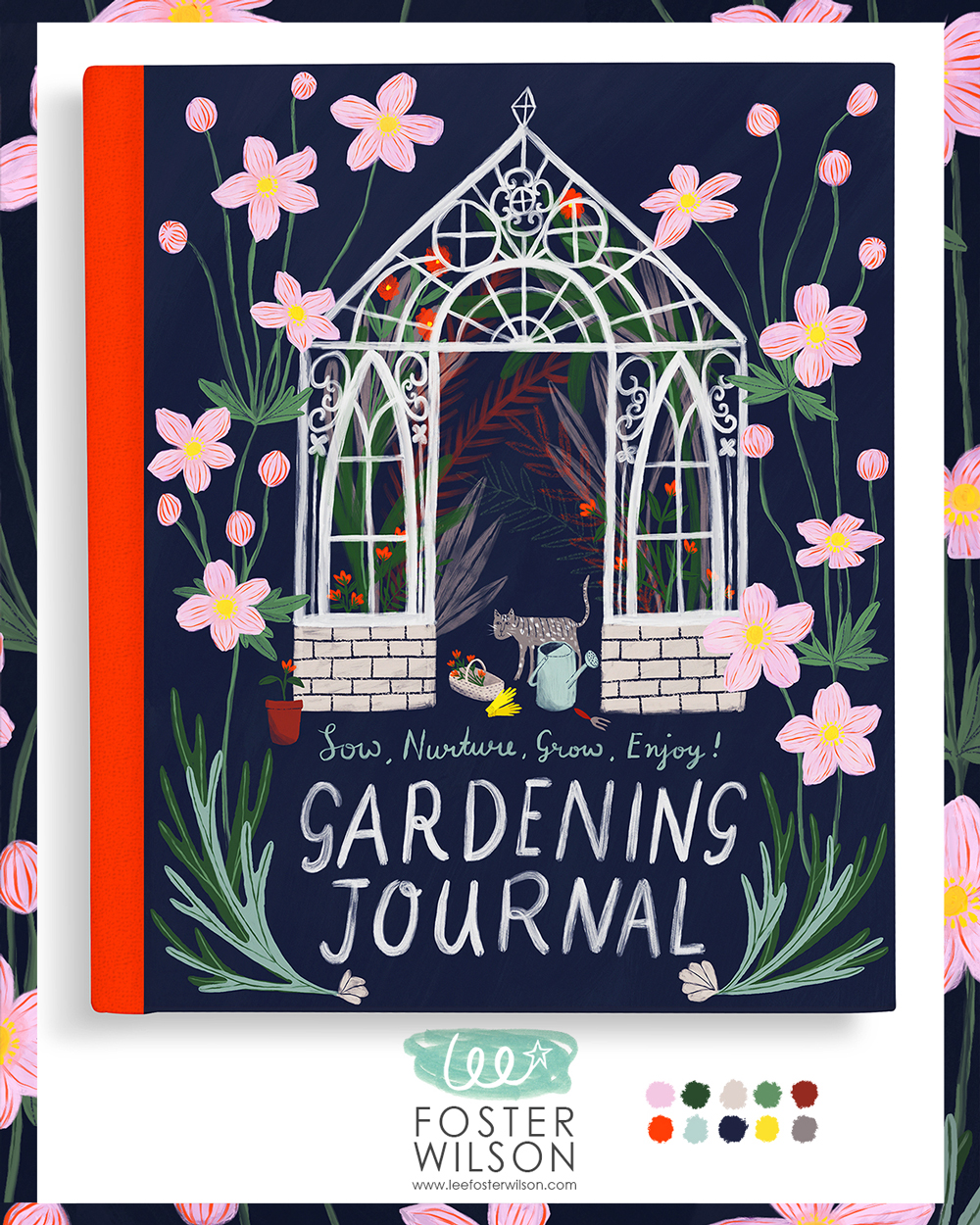 """Enjoy Gardening"" Journal Cover Design · Lee Foster-Wilson"
