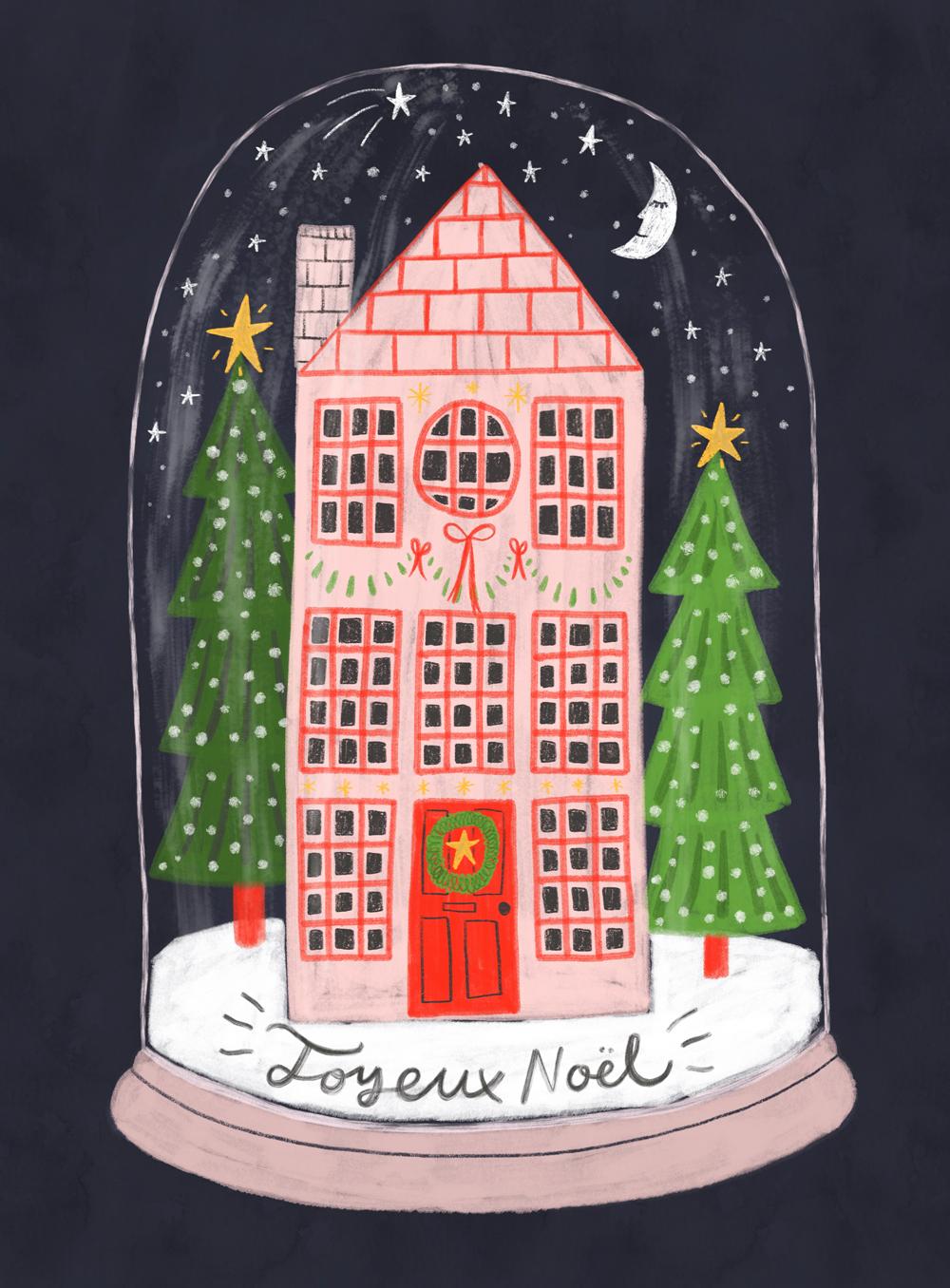 Joyeux Noël Snow Globe · Lee Foster-Wilson