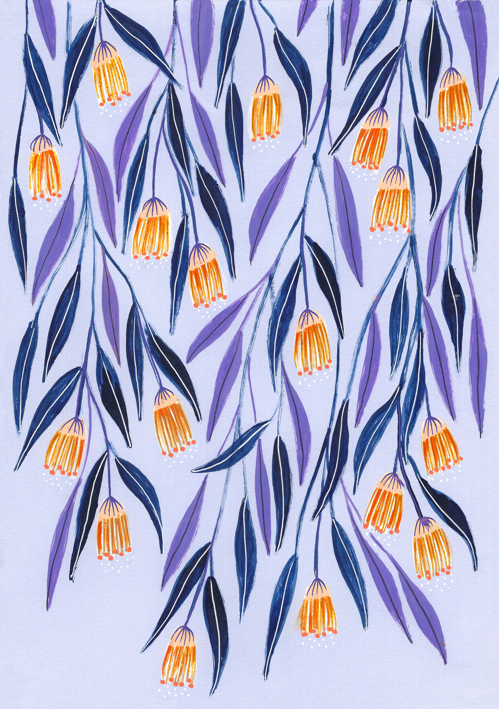 Purple Floral Curtain · Lee Foster-Wilson
